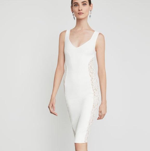 0bb6cce1 BCBGMaxAzria Dresses | Sale Lace Inset Bodycon Dress | Poshmark